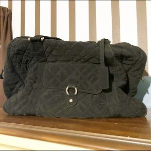 Vera Bradley small black quilted tote